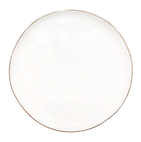 Abbesses Medium Plate Gold Rim - Set of 4