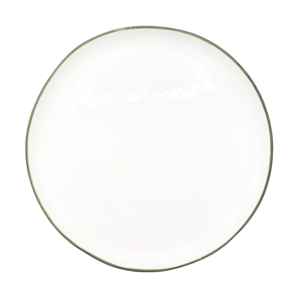 Abbesses Medium Plate Green Rim - Set of 4