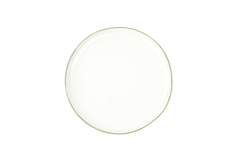Abbesses Medium Plate Green Rim - Canvas Home
