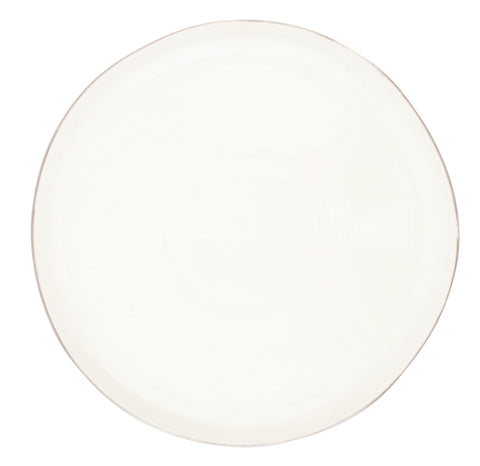Abbesses Medium Plate Platinum Rim - Set of 4