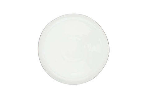 Abbesses Medium Plate Platinum Rim - Canvas Home