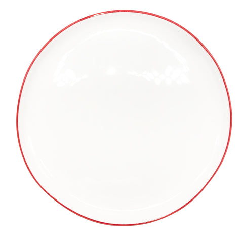 Abbesses Medium Plate Red Rim - Set of 4
