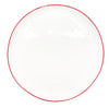 Abbesses Medium Plate Red Rim - Canvas Home