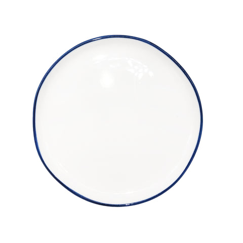 Abbesses Small Plate Blue Rim - Set of 4