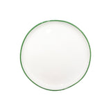 Abbesses Small Plate Green Rim - Set of 4
