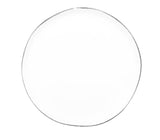 Abbesses Small Plate Platinum Rim - Set of 4