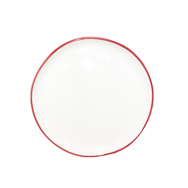 Abbesses Small Plate Red Rim - Set of 4