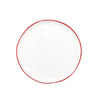 Abbesses Small Plate Red Rim - Canvas Home