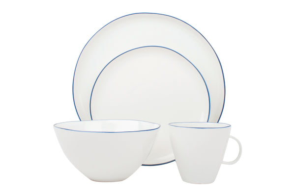 Abbesses 4-piece place setting - Blue