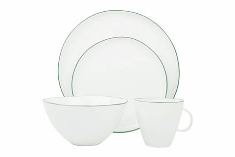 Abbesses 4-piece place setting - Green