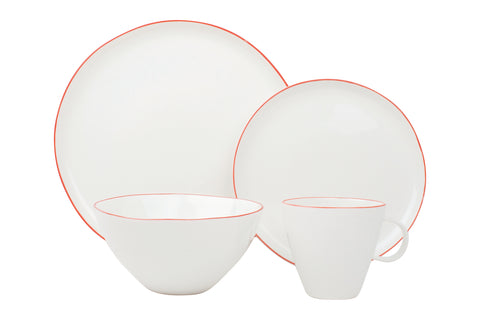 Abbesses 16-piece place setting - Red