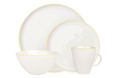 Abbesses 4-piece place setting - Yellow