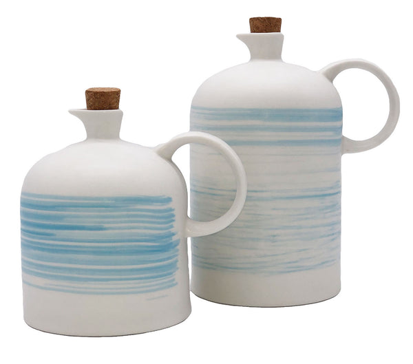 Charmouth Oil & Vinegar Cruet Set in Blue