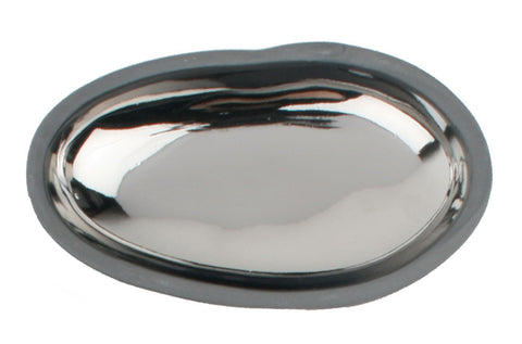 Dauville Charcoal Pebble Dish in Platinum
