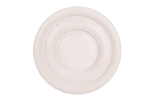 Shell Bisque Tidbit Plate Soft Pink - Canvas Home