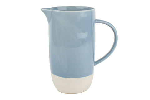 Shell Bisque Pitcher Blue - Canvas Home