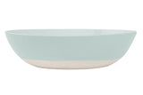 Shell Bisque Serving Bowl Mist