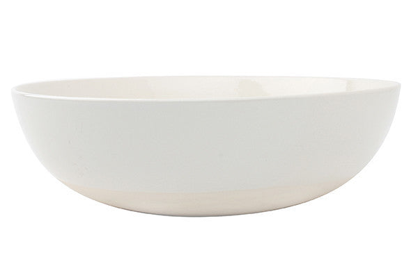 Shell Bisque Round Serving Bowl White - Canvas Home
