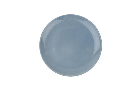 Shell Bisque Salad Plate Blue - Canvas Home