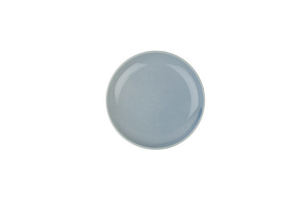 Shell Bisque Tidbit Plate Blue - Canvas Home