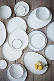 Pre-Order: Abbesses Medium Plate Gold Rim - Set of 4