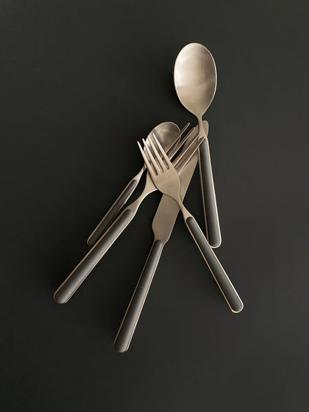 Bari 5pc Cutlery Set- Grey
