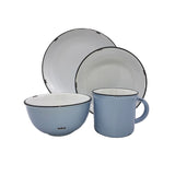 Tinware 4-piece place setting in Cashmere Blue