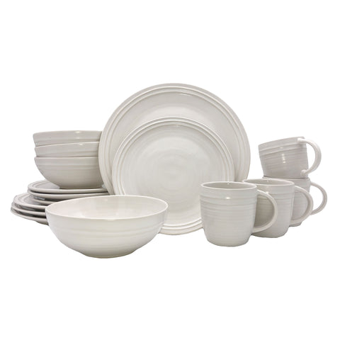 Lines 16-piece place setting - White/White