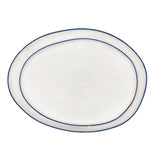 Abbesses Large Platter Blue Rim