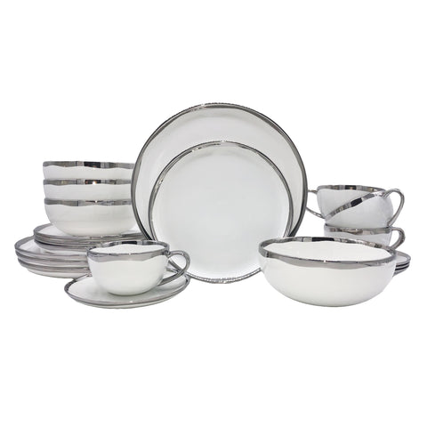 Dauville Platinum - 20 Piece Place Setting, Service for 4
