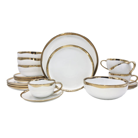 Dauville 20-piece place setting - Gold