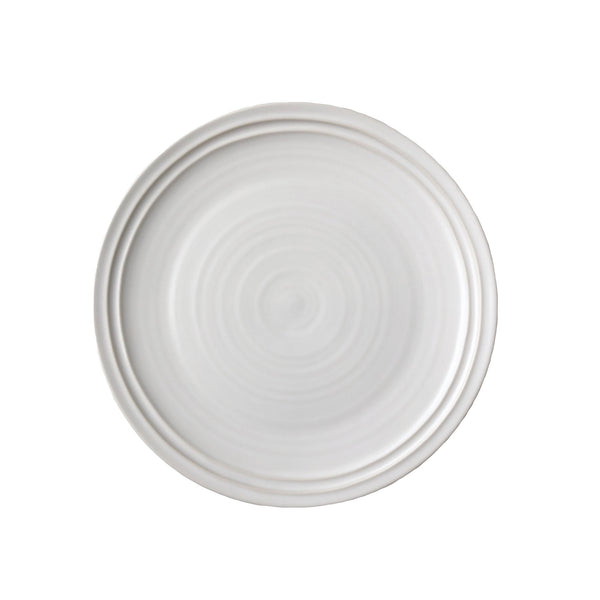 Lines Salad Plate - White/White - Set of 4