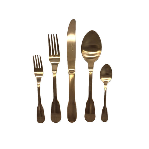 Madrid Cutlery Set in Matte Gold