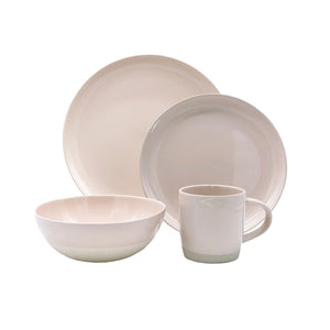 Shell Bisque 4-piece place setting - Soft Pink