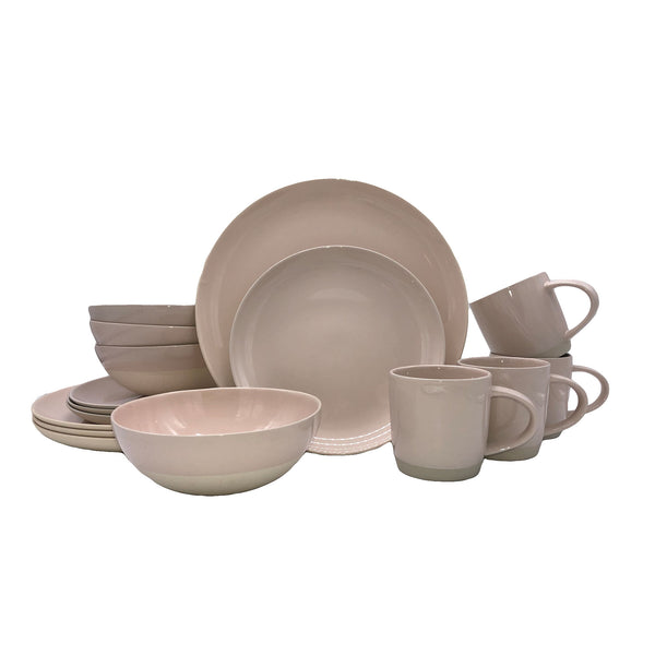 Shell Bisque 16-piece place setting - Soft Pink