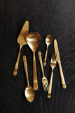 Oslo Salad Servers in Gold