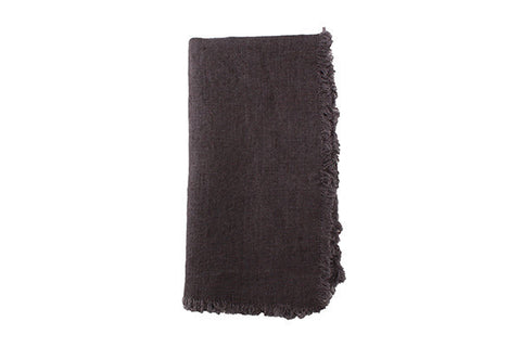 Lithuanian Linen Fringe Napkin in Dove - Canvas Home