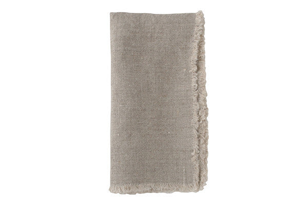 Lithuanian Linen Fringe Napkin in Natural - Canvas Home