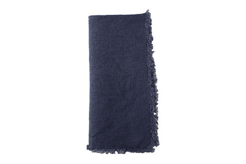 Lithuanian Linen Fringe Napkin in Pigeon - Canvas Home