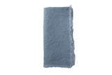 Lithuanian Linen Fringe Napkin in Sky Blue - Canvas Home
