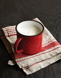 Tinware 4-piece place setting in Red