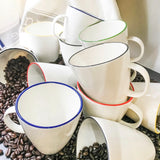 Pre-Order: Abbesses Mug Black Rim - Set of 4