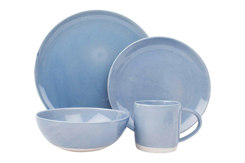 Shell Bisque 4-piece place setting - Blue