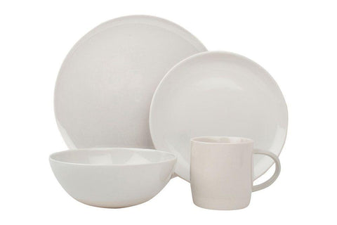 Shell Bisque 4-piece place setting - White