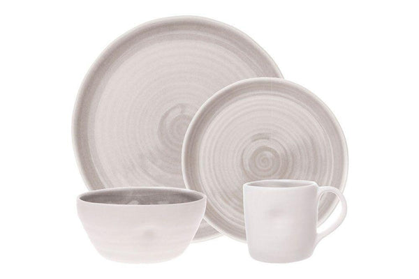 Pinch 4-piece place setting - Grey