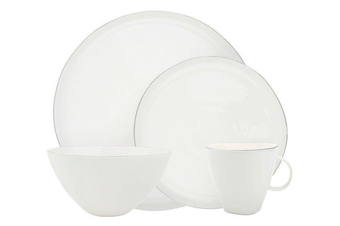 Abbesses 4-piece place setting - Platinum