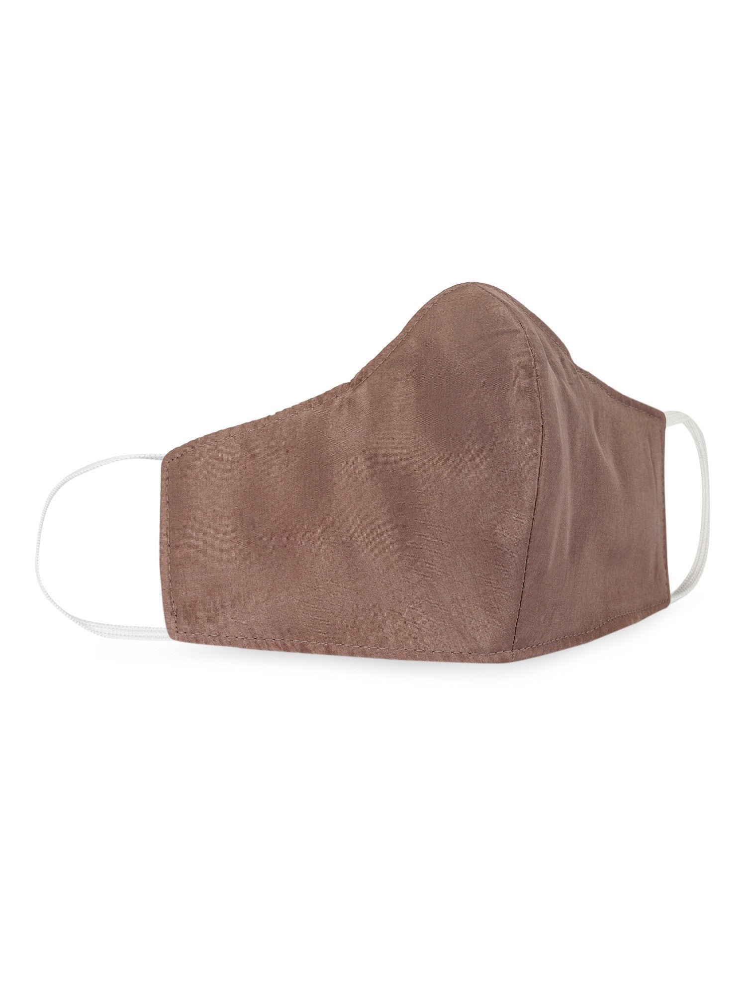 Reusable Silk Face Mask- Bronze - the naked laundry.