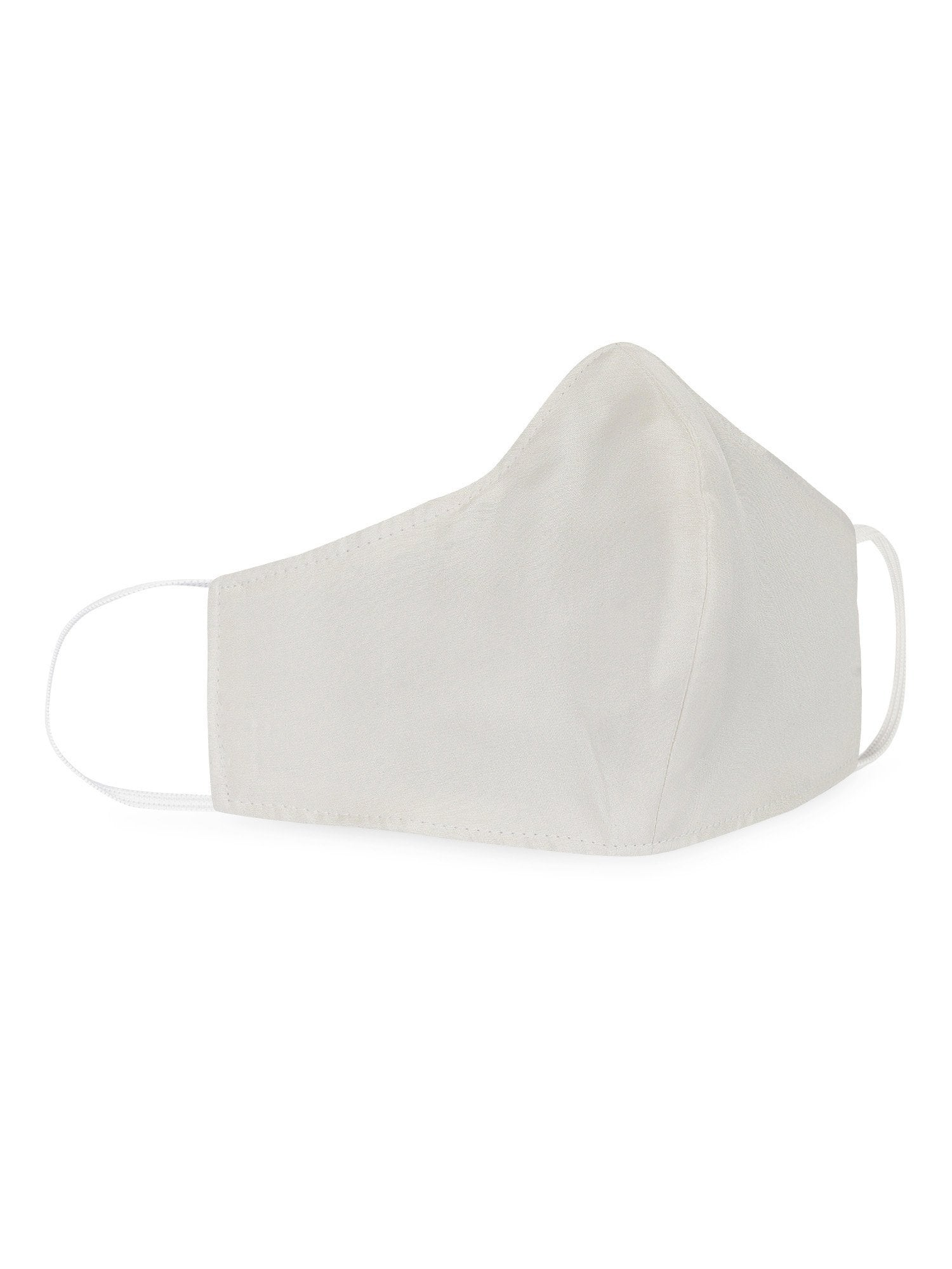 Reusable Silk Face Mask- White - the naked laundry.
