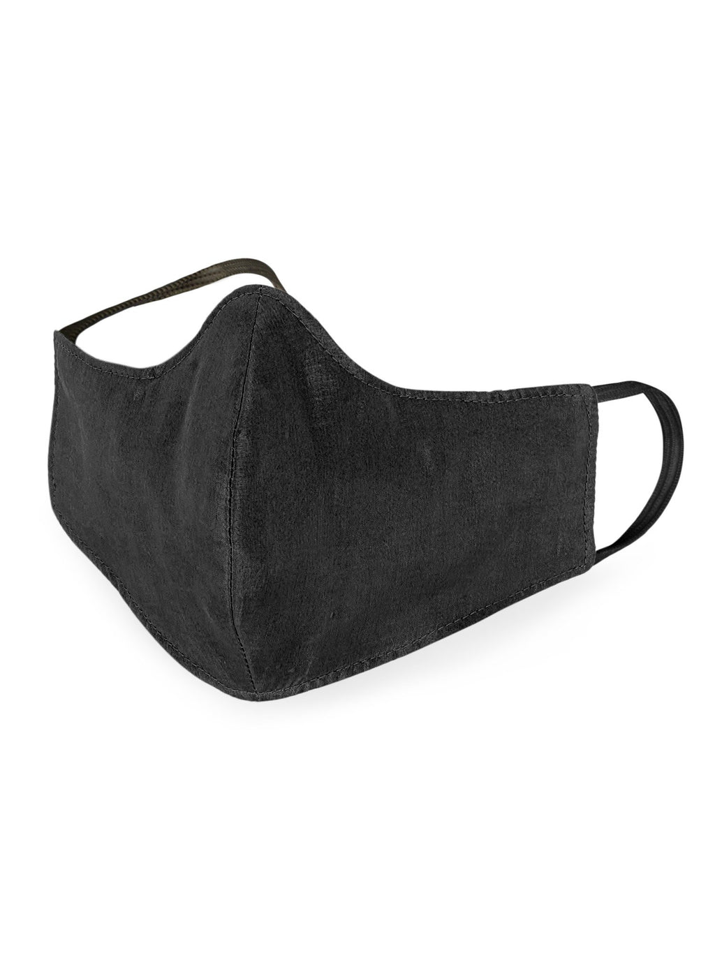 Reusable Silk Face Mask- Black - the naked laundry.