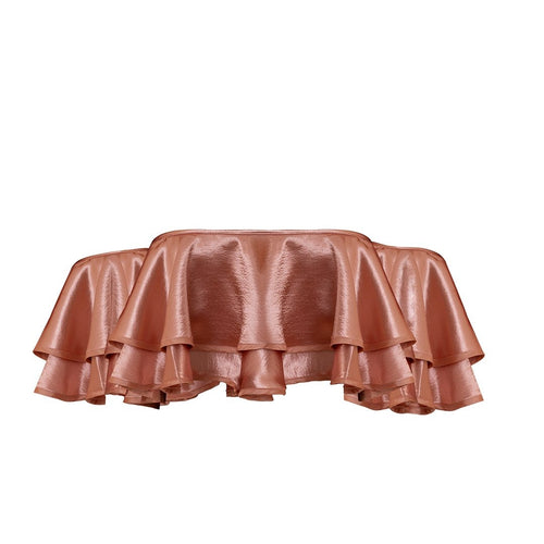 Bardot Frill Crop Top - Blush - thenakedlaundry